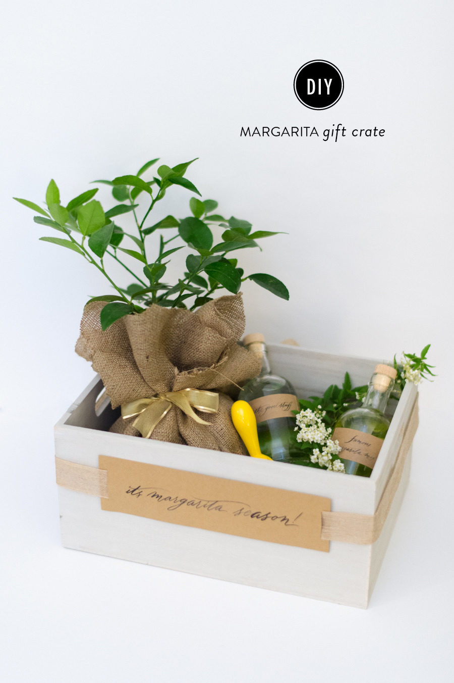 DIY Margarita Gift Crate
