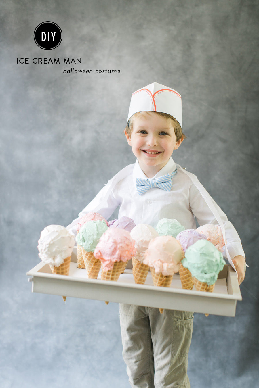with spackle styrofoam a little paint and a paper hat your kiddo will be serving up delicious treats come halloween and for even more costume ideas