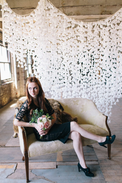 cascata di petali per matrimonio