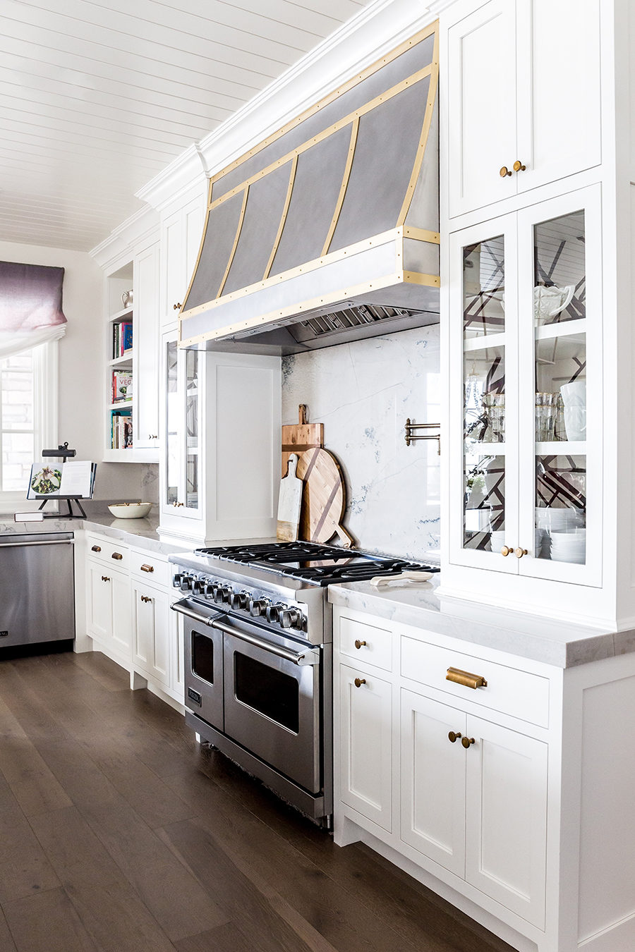 A Luxurious White Kitchen with Double