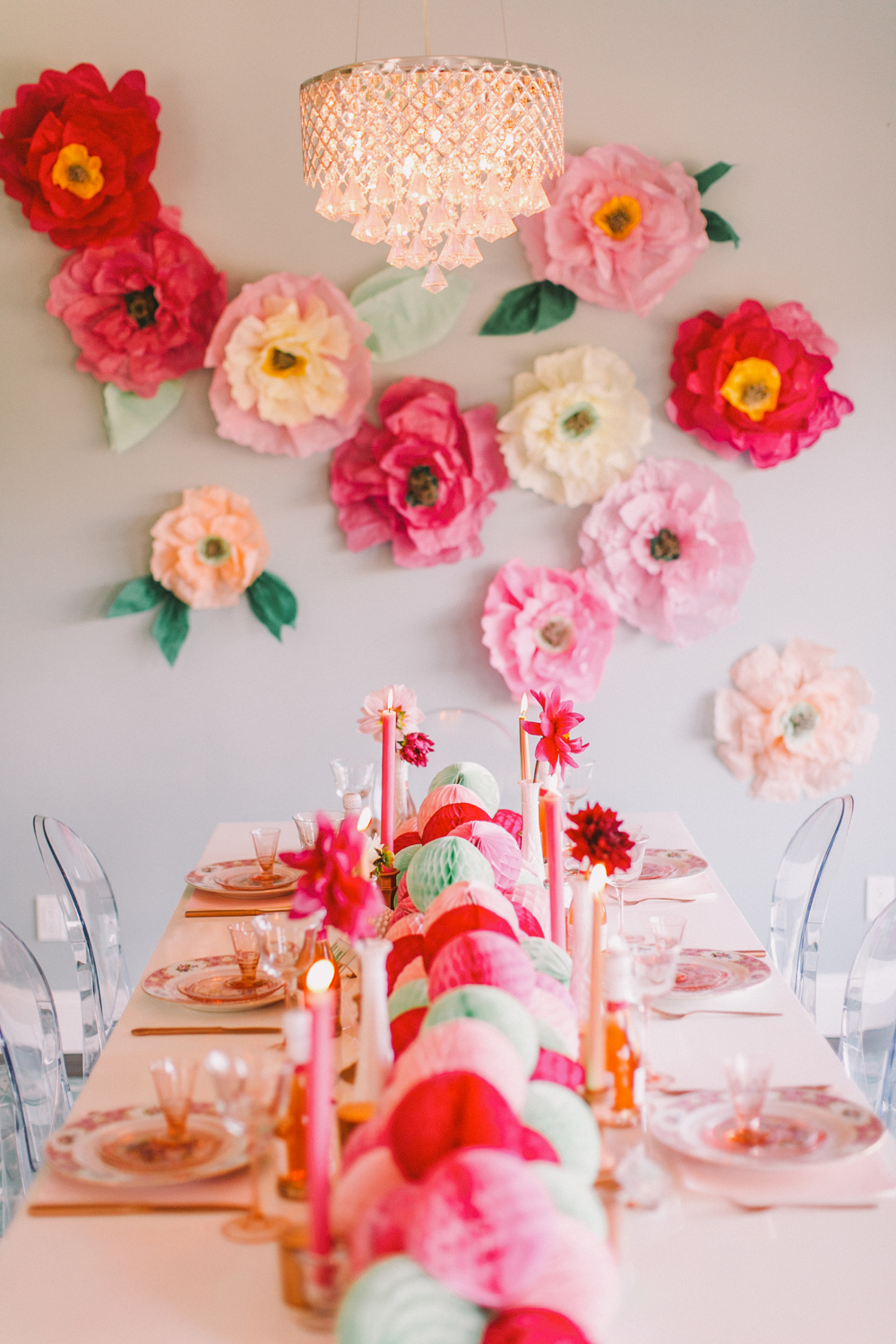Diy Flower Wall Bridesmaids Party
