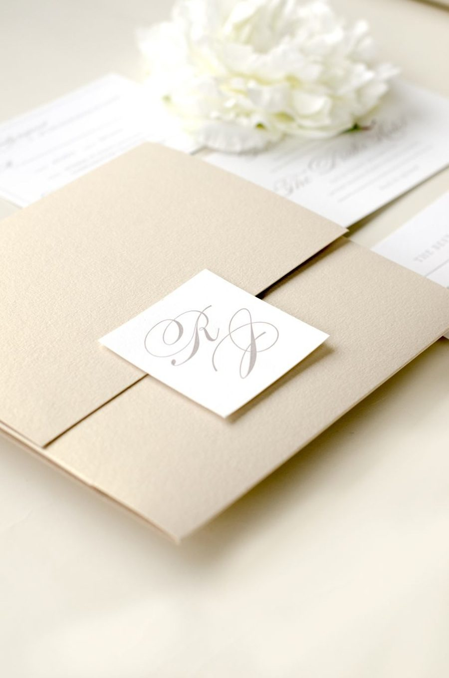 Elegant timeless letterpress wedding invitation i designed this invitation suite for the bride jessica who was planning a classic and elegant wedding reception at the drake hotel in chicago stopboris Image collections
