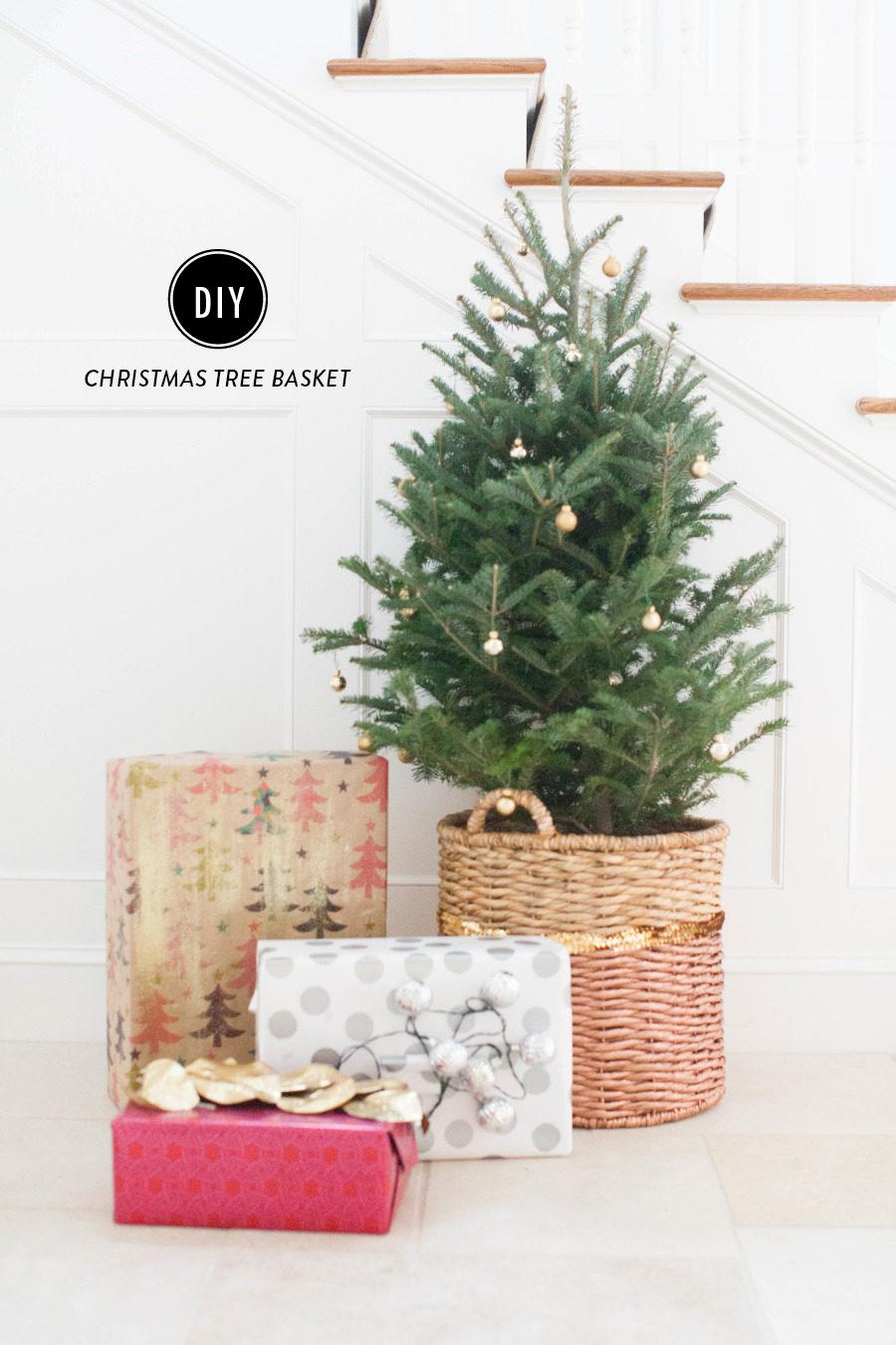 diy christmas tree basket