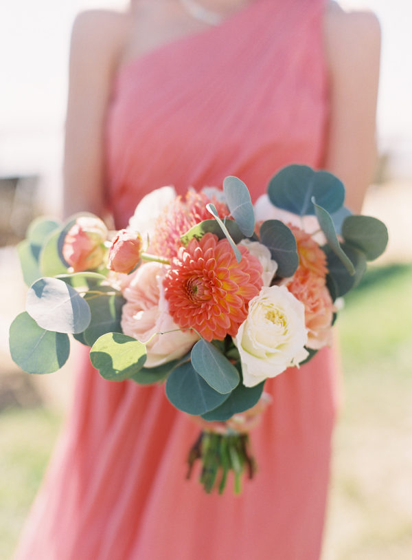 Coral Destination Seaside Wedding