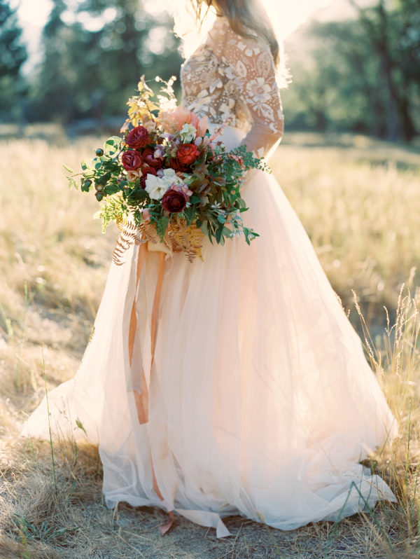 Autumn Bridal Session in Yosemite National Park