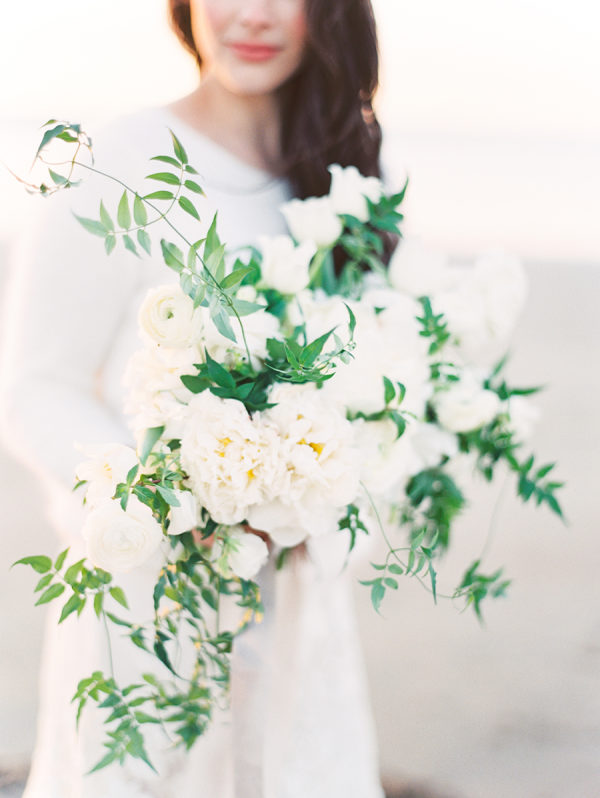 Coastal Winter White Wedding Inspiration