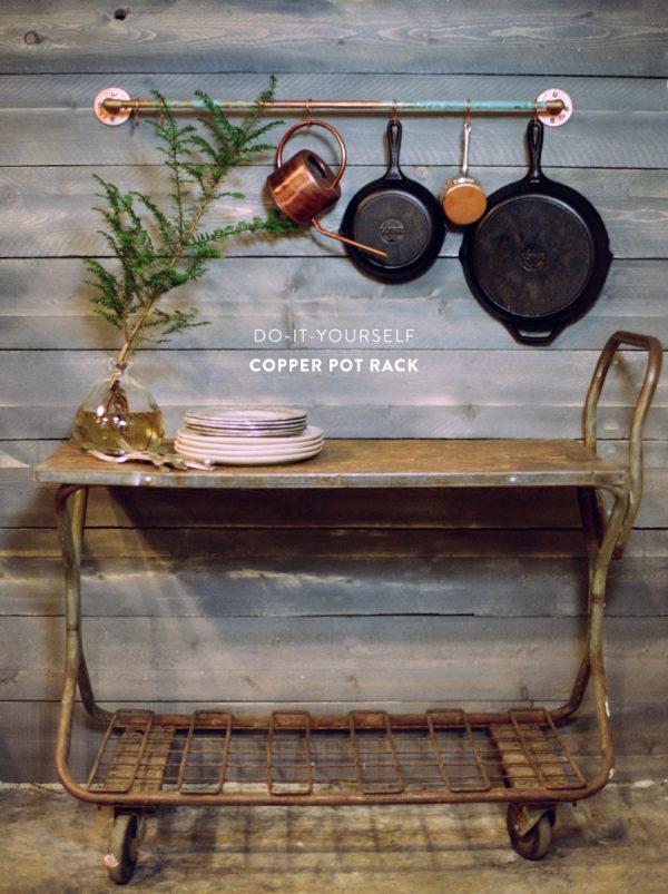 DIY Copper Pot Rack Style Me Pretty Living