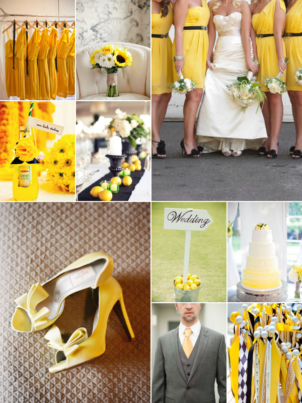 Lemon Zest and Sunflower Yellow Weddings