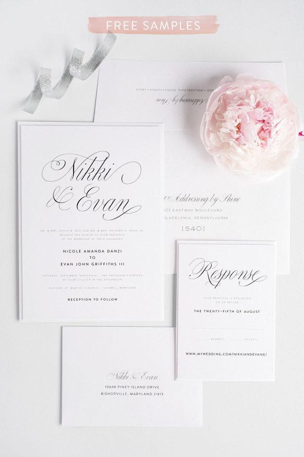 shine wedding invitations + a promotion!, Wedding invitations