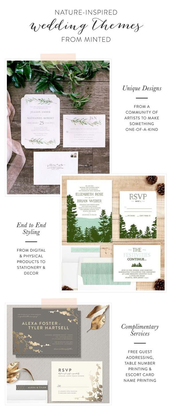 Nature-Inspired Wedding Themes from Minted