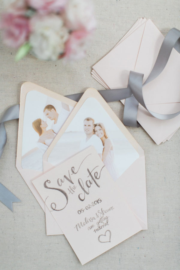 DIY Engagement Photo Envelope Liners