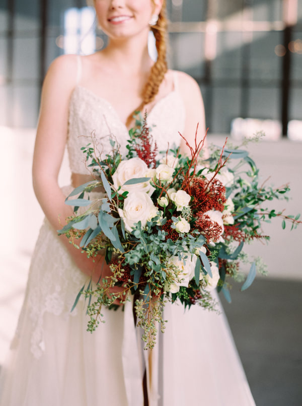 Organic Red Winter Wedding Inspiration