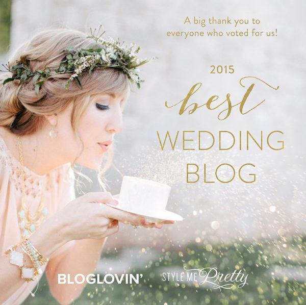 Style Me Pretty Bloglovin? 2015 Best Wedding Blog