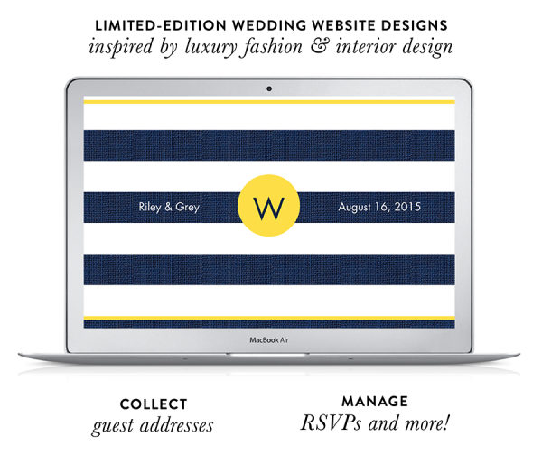 Riley & Grey Luxury Wedding Websites + A Discount!