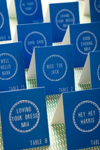 Detail To Love: Personalized Escort Cards via TheELD.com