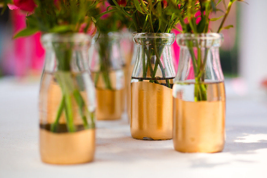 Smp At Home Diy Gold Painted Vases
