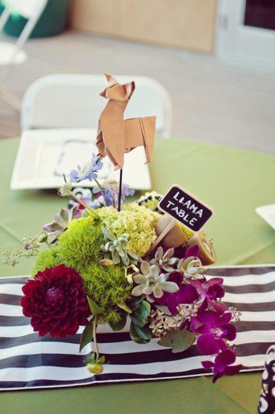 unique wedding theme zoo circus origami animals llama