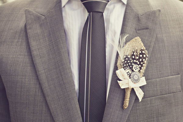 Бутоньерка для жениха и невесты своими руками