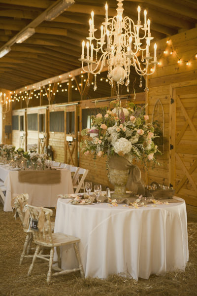 wrought iron chandelier white wedding barn rustic