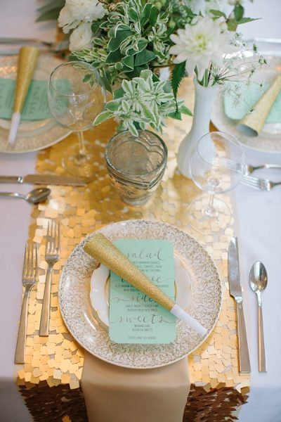 gold sequin square table runner wedding green teal turquoise