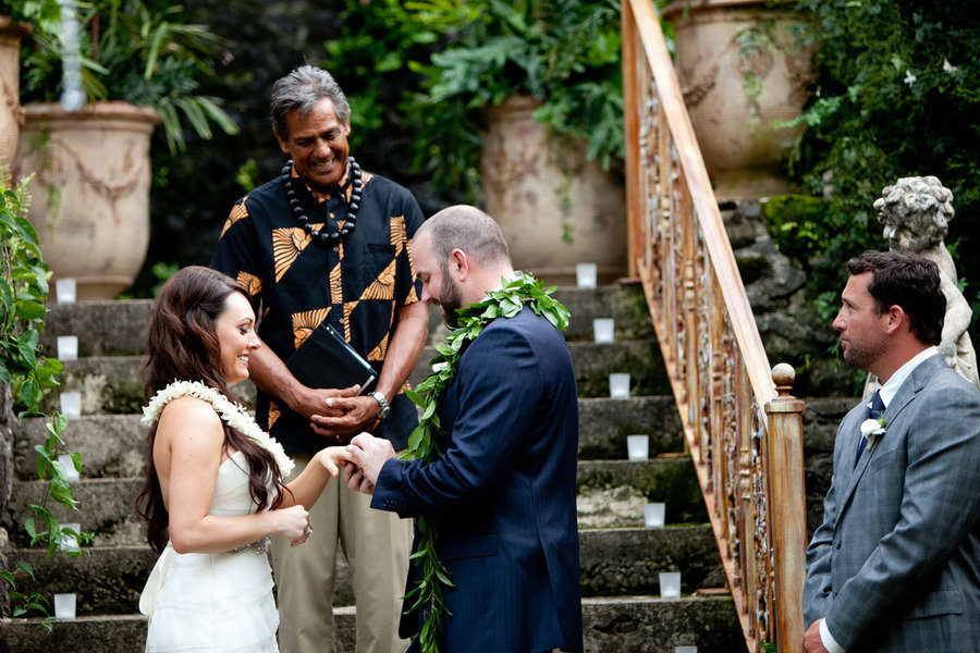 Maui wedding ceremony of Haiku Mill