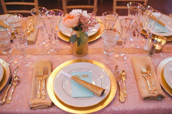 Glittery Table Setting
