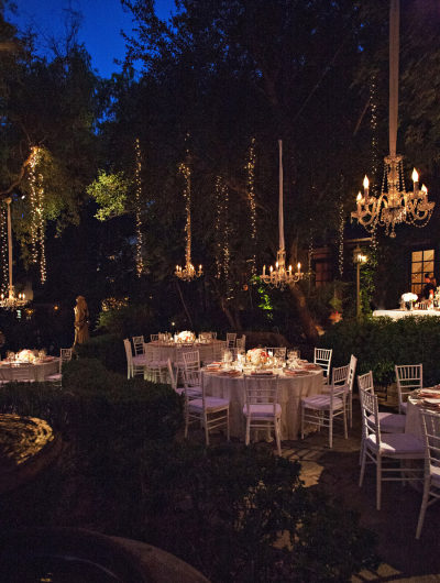lighting costs for outdoor nighttime reception