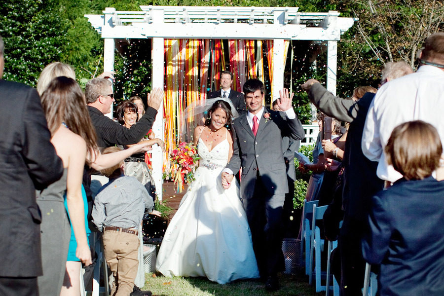colorful wedding ceremony backdrop