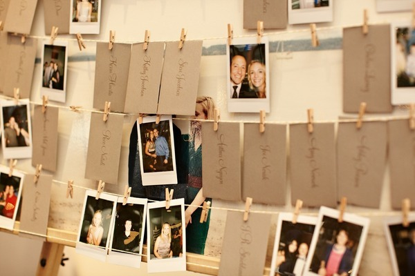 Detail To Love: Polaroid Escort Cards! via TheELD.com